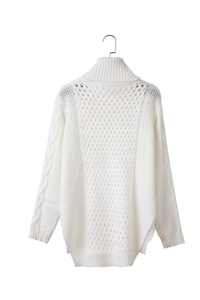 High Neck Pull Over High Slitting Sweater - Oh Yours Fashion - 6