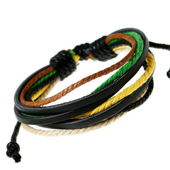 Leisure Retro Hand Woven Leather Bracelet - Oh Yours Fashion - 7