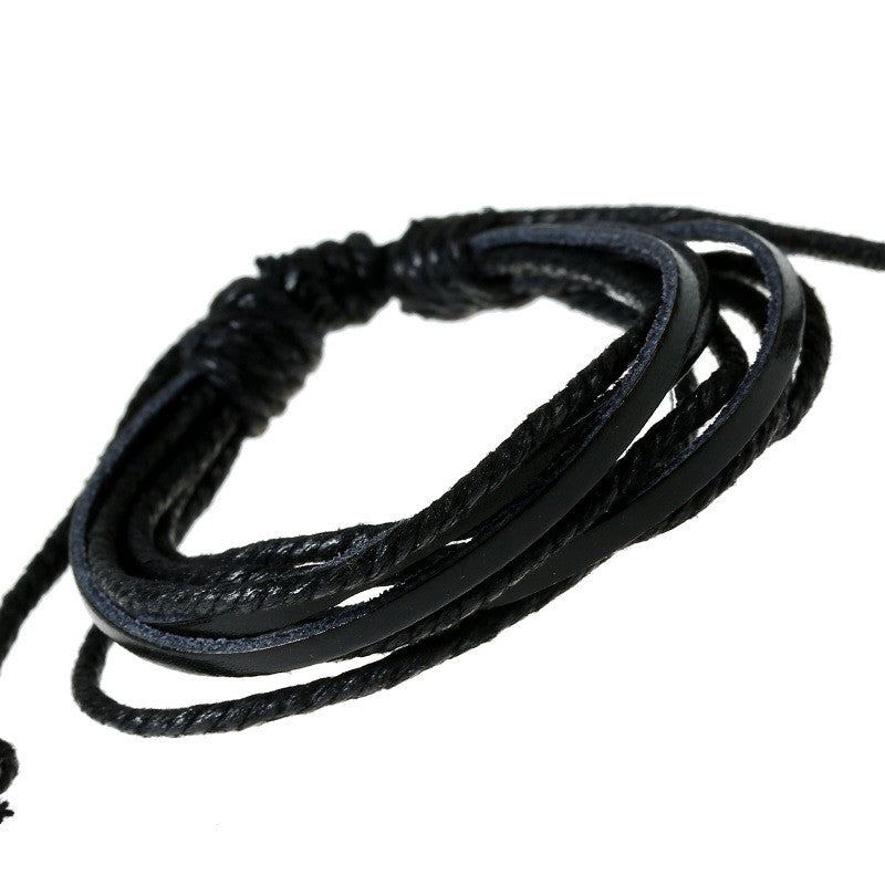 Leisure Hand Woven Leather Bracelet - Oh Yours Fashion - 1