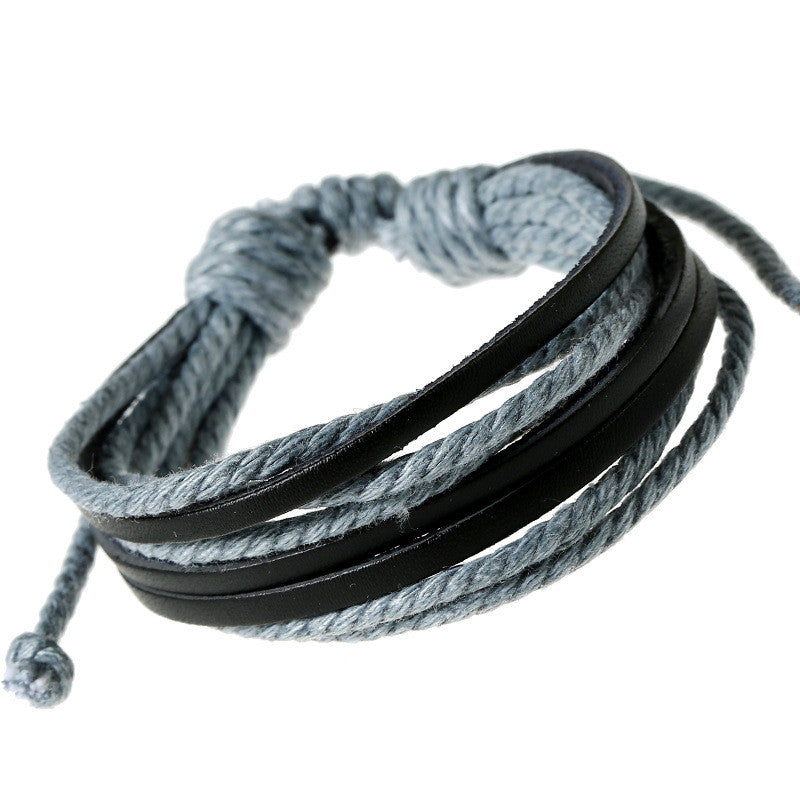 Leisure Hand Woven Leather Bracelet - Oh Yours Fashion - 7