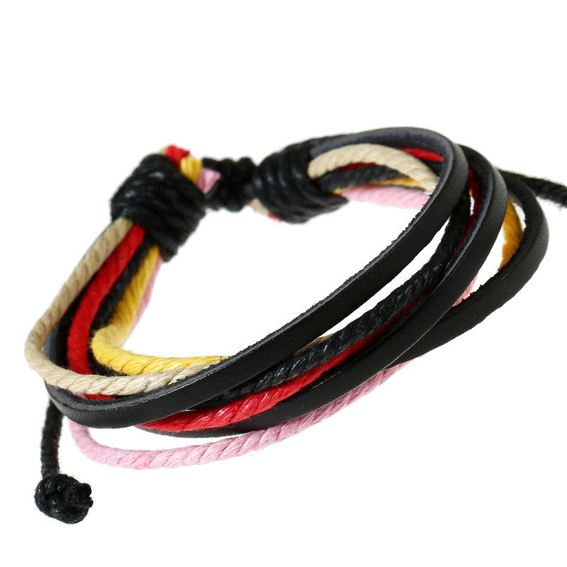 Leisure Hand Woven Leather Bracelet - Oh Yours Fashion - 5