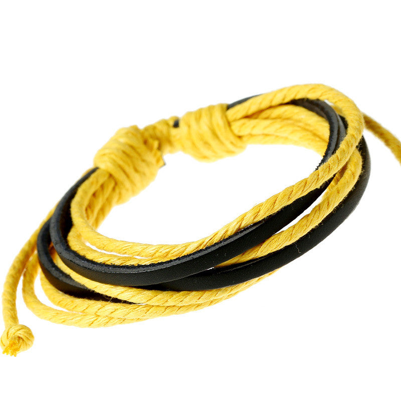 Leisure Hand Woven Leather Bracelet - Oh Yours Fashion - 3