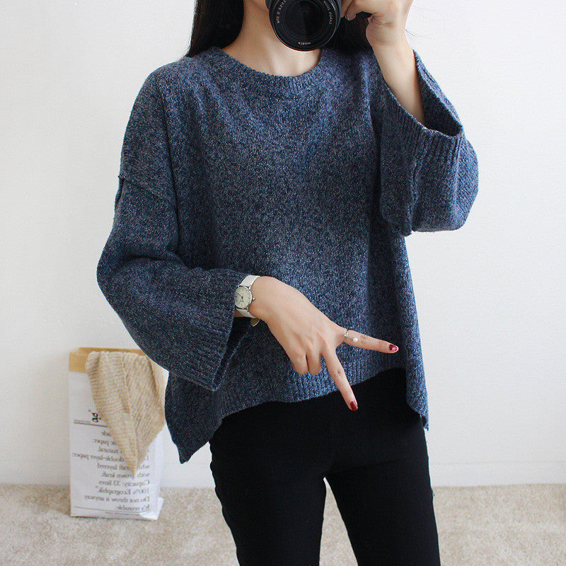 Loose Batwing Sleeve Pullover Knitting Sweater - Oh Yours Fashion - 3