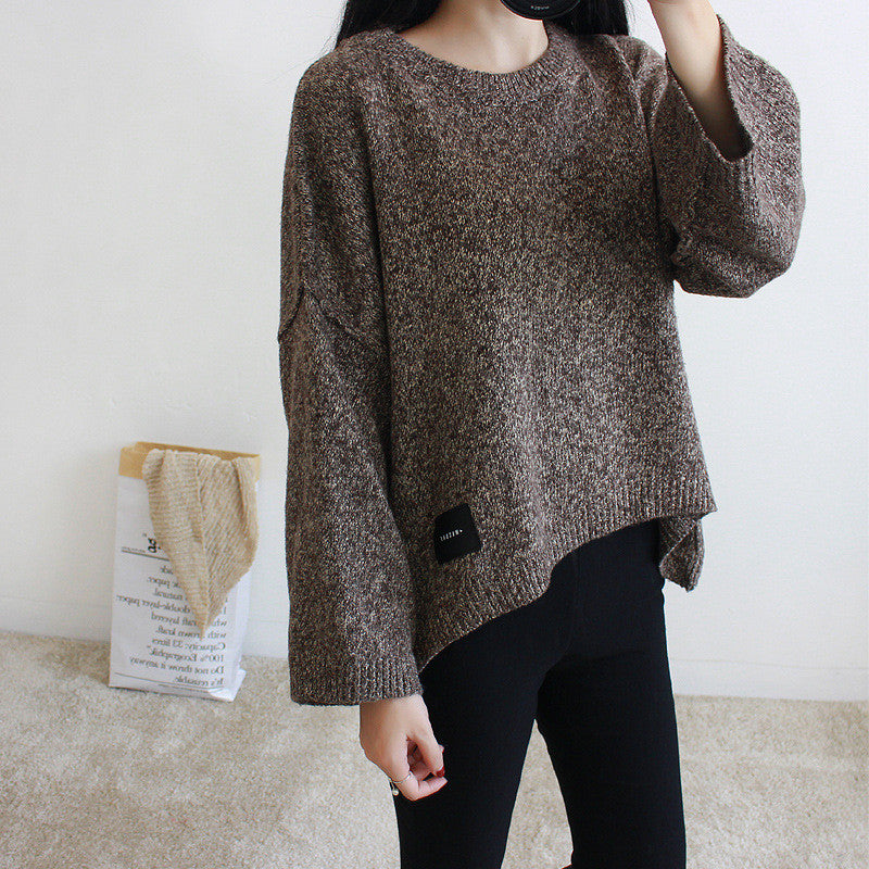 Loose Batwing Sleeve Pullover Knitting Sweater - Oh Yours Fashion - 8