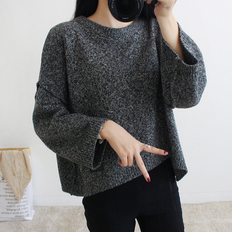 Loose Batwing Sleeve Pullover Knitting Sweater - Oh Yours Fashion - 7