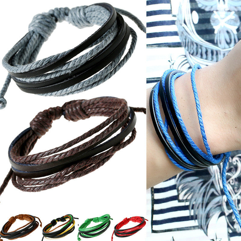 Leisure Hand Woven Leather Bracelet - Oh Yours Fashion - 8