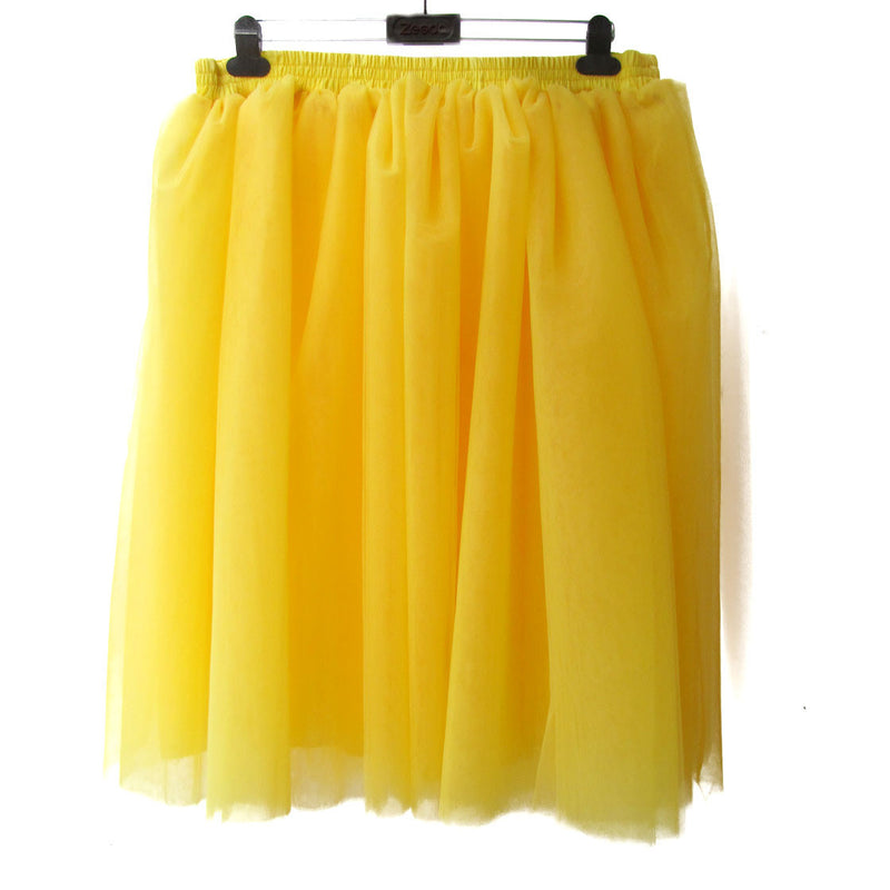 Lovely 7 Layers Pleated Flared Veil Skirt - Oh Yours Fashion - 4