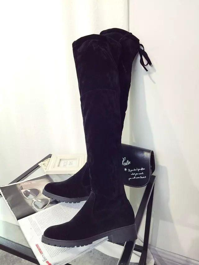 Round Toe Over-Knee Chunky Heel High Boots