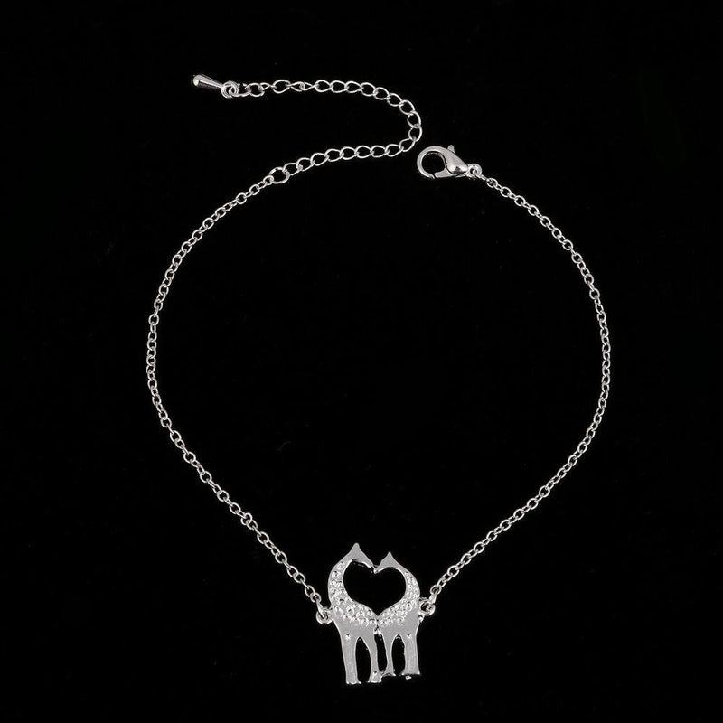 Giraffe Shaped Animal Themed Charm Necklace - Oh Yours Fashion - 7