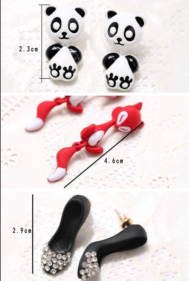 3D Cartoon Animals Through Stud Earrings - Oh Yours Fashion - 8
