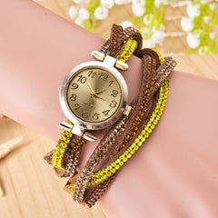 Beautiful Crystal Woven Bracelet Watch - Oh Yours Fashion - 3