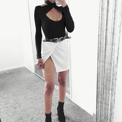 Long Sleeve Sexy Cross Halter Short Blouse - Oh Yours Fashion - 4