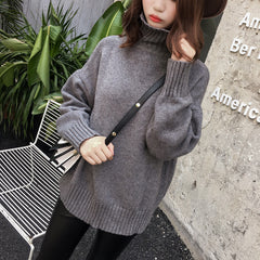 Casual Loose Style Pure Color Knitting Sweater - Oh Yours Fashion - 4