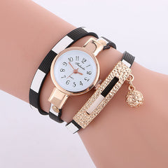 Stripe Strap Bead Pendant Watch - Oh Yours Fashion - 3