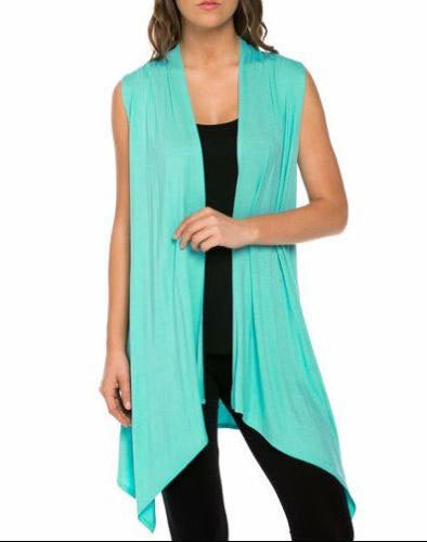 Simple Fashion Sleevelss Long Cardigan - Oh Yours Fashion - 8