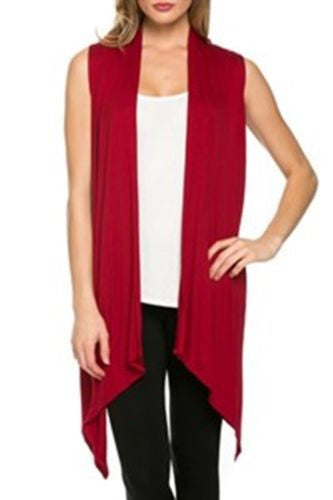 Simple Fashion Sleevelss Long Cardigan - Oh Yours Fashion - 7