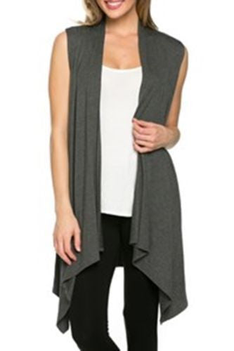 Simple Fashion Sleevelss Long Cardigan - Oh Yours Fashion - 5