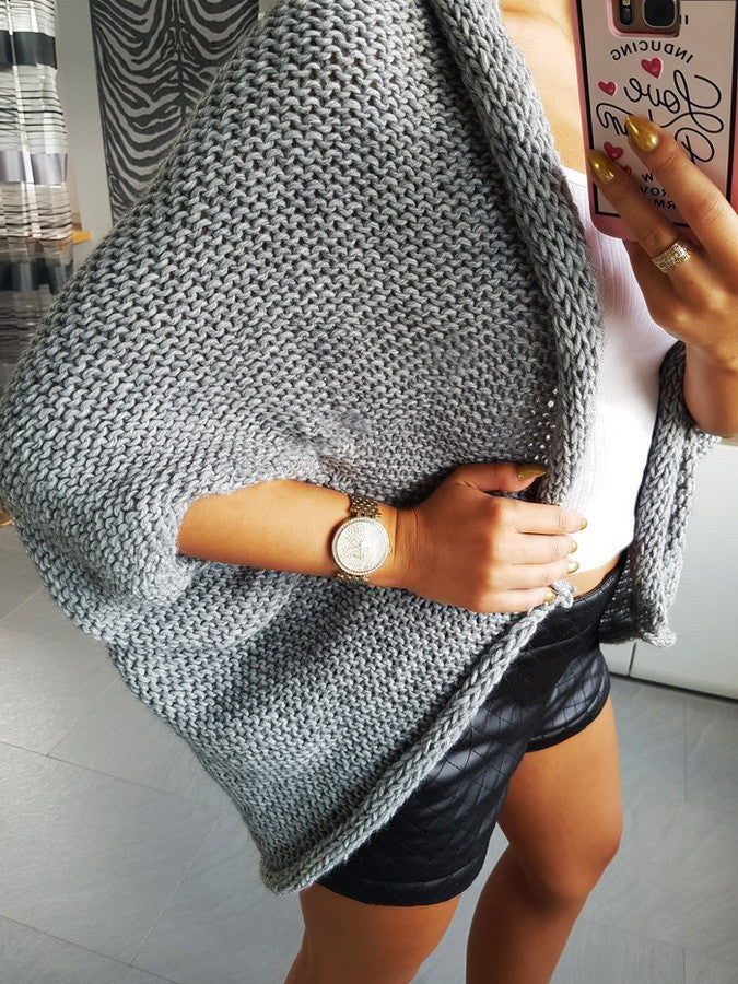 Thick Knitting Irregular Sweater Cardigan - Oh Yours Fashion - 4