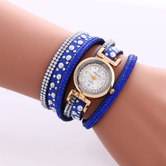 Beautiful Crystal Snowflake Golden Dial Watch - Oh Yours Fashion - 3