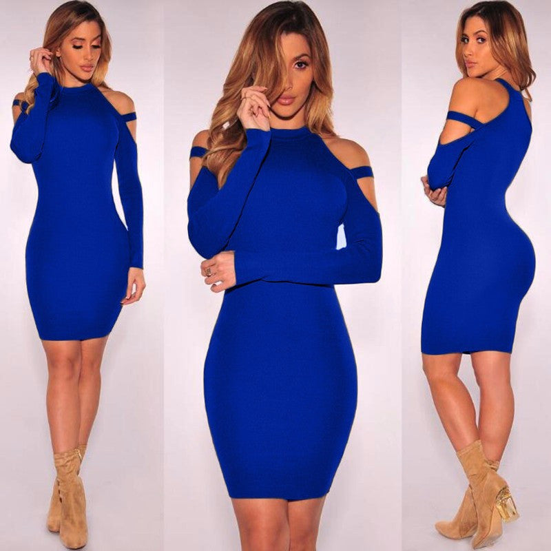 Sexy Bare Shoulder Bandage Scoop Short Bodycon Dress - Oh Yours Fashion - 7