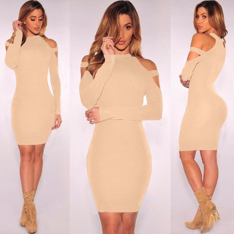 Sexy Bare Shoulder Bandage Scoop Short Bodycon Dress - Oh Yours Fashion - 4