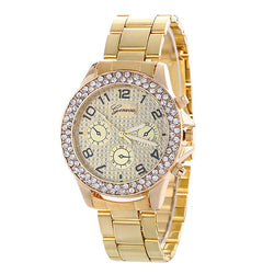 Fashion Alloy Strap Crystal Frosted Watch - Oh Yours Fashion - 1