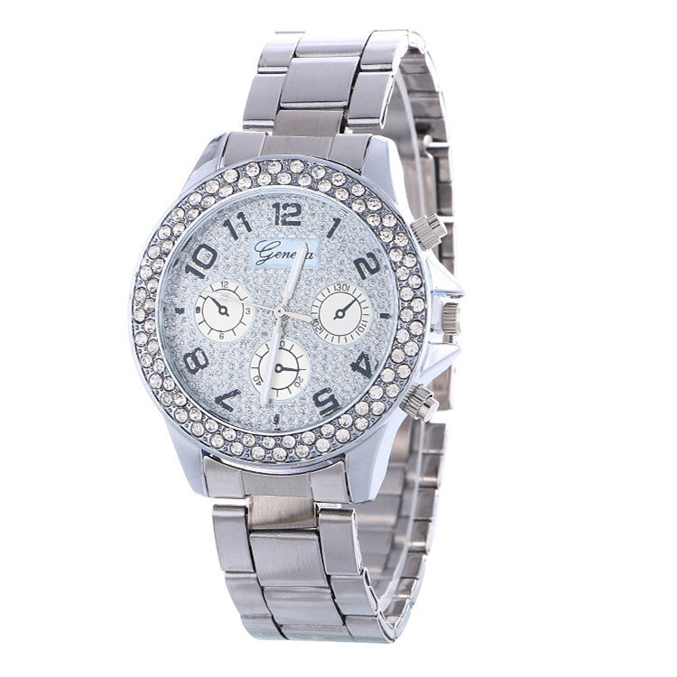 Fashion Alloy Strap Crystal Frosted Watch - Oh Yours Fashion - 2