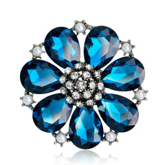 High-grade Elegant Alloy Crystal Brooch - Oh Yours Fashion - 1