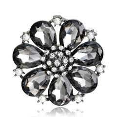 High-grade Elegant Alloy Crystal Brooch - Oh Yours Fashion - 3