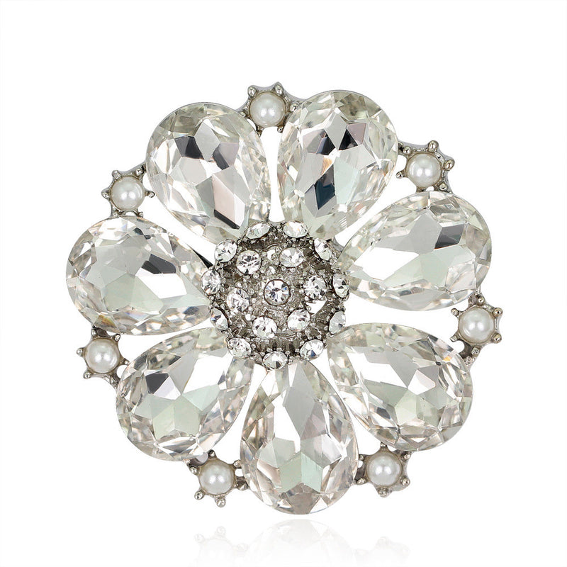 High-grade Elegant Alloy Crystal Brooch - Oh Yours Fashion - 2