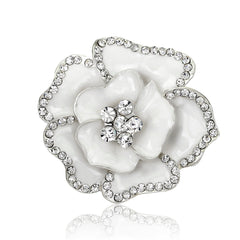 Beautiful Crystal Rose Flower Brooch - Oh Yours Fashion - 2