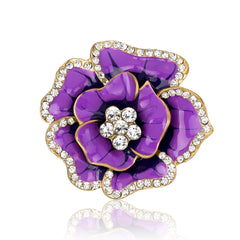 Beautiful Crystal Rose Flower Brooch - Oh Yours Fashion - 7