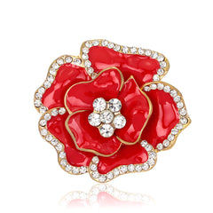 Beautiful Crystal Rose Flower Brooch - Oh Yours Fashion - 1