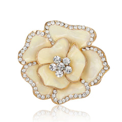 Beautiful Crystal Rose Flower Brooch - Oh Yours Fashion - 5