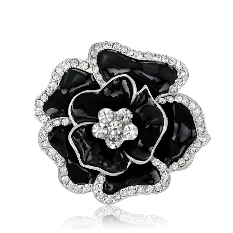 Beautiful Crystal Rose Flower Brooch - Oh Yours Fashion - 4
