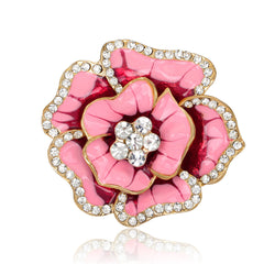 Beautiful Crystal Rose Flower Brooch - Oh Yours Fashion - 6