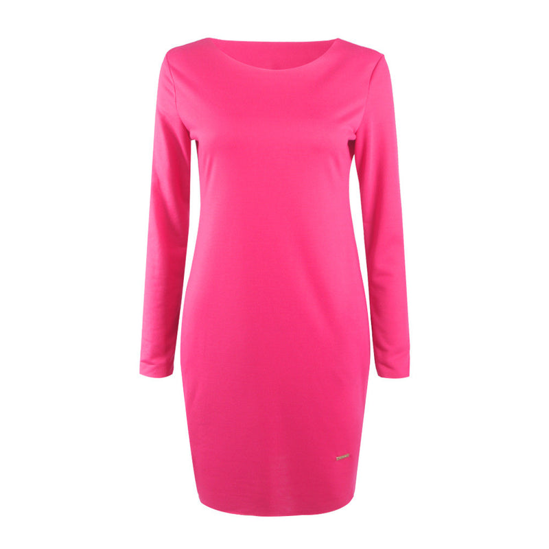 Fashion Loose Hidden Poctkets Long Sleeve Short Dress - Oh Yours Fashion - 8