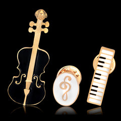ViolinMusic Keyboard Instrument Combination Brooch - Oh Yours Fashion - 2
