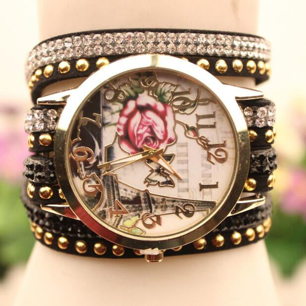 Flower Car Pattern Lady's Watch - Oh Yours Fashion - 5
