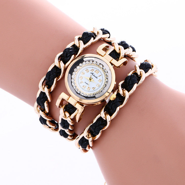 Bohemia Style Woven Alloy Chain Watch - Oh Yours Fashion - 3