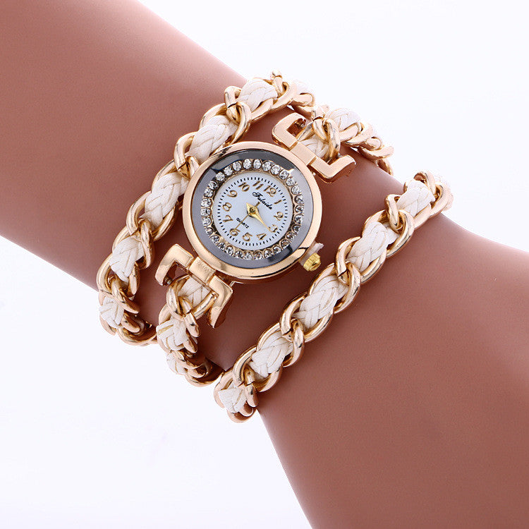 Bohemia Style Woven Alloy Chain Watch - Oh Yours Fashion - 5