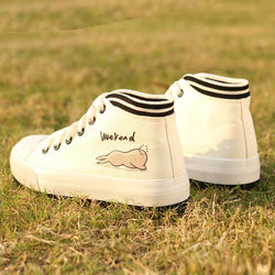 Korea Style Cartoon Print Thick Bottom Sneakers