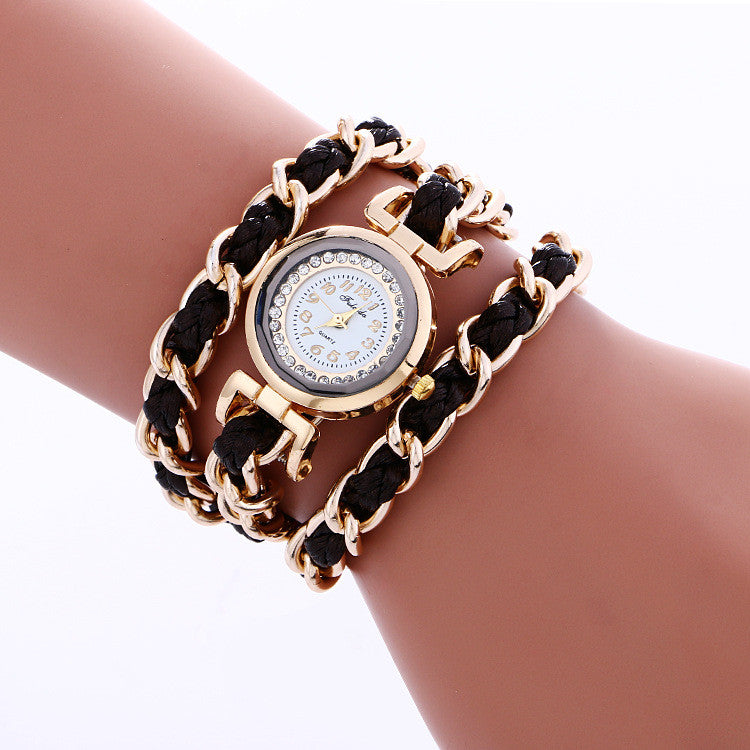 Bohemia Style Woven Alloy Chain Watch - Oh Yours Fashion - 4