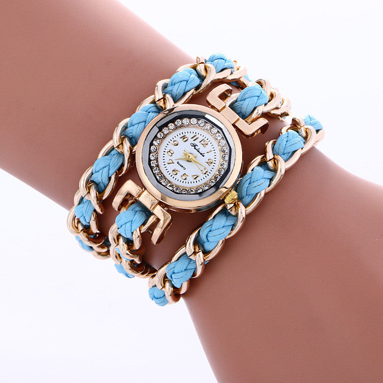 Bohemia Style Woven Alloy Chain Watch - Oh Yours Fashion - 2