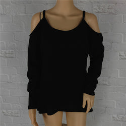 Sexy Dew Shoulder Loose Sweater - Oh Yours Fashion - 1