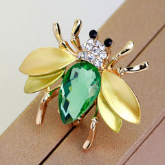 Cute Crystal Little Bee Brooch - Oh Yours Fashion - 1