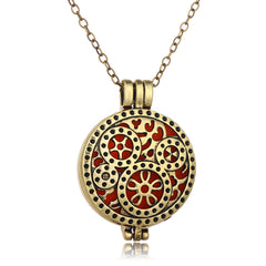 Hollow Out Gear Pendant Colorful Chrismas Necklace - Oh Yours Fashion - 2