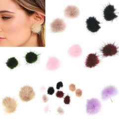 Sweet Furry Ball Women's Earrings - Oh Yours Fashion - 13