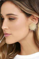 Sweet Furry Ball Women's Earrings - Oh Yours Fashion - 11