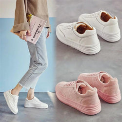 Simple Fashion Increased Lace Up Thin Sneakers
